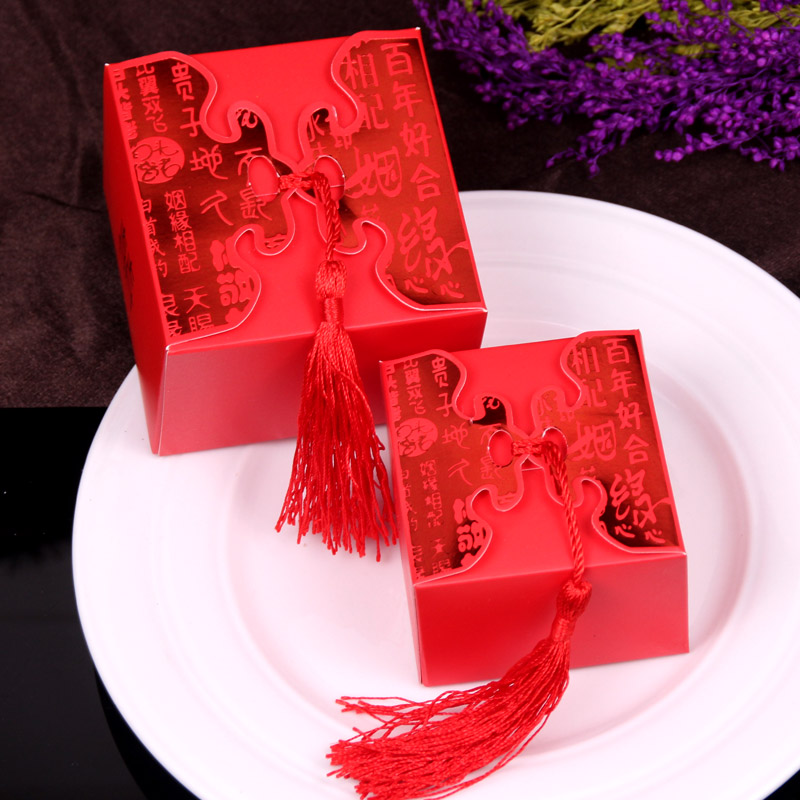 Qin lei wedding supplies wedding candy box creative candy bags wedding supplies chinese candy box wedding supplies wedding supplies