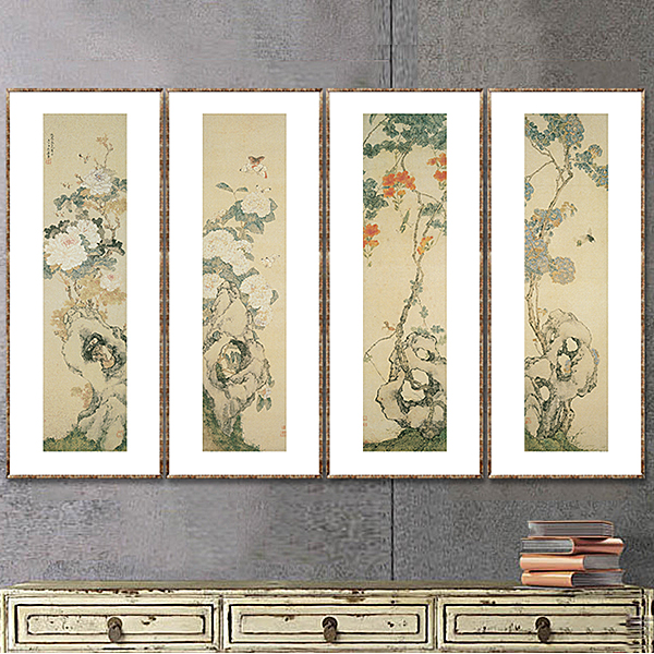 Qing yi garden chinese style painting decorative painting the living room study corridor paintings ju lian · dendrobium cordyceps