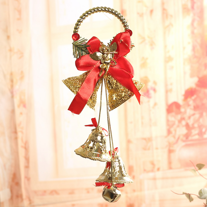 Qixuan christmas tree decorations christmas ornaments christmas decoration supplies furnished large trumpet bell bell pendant