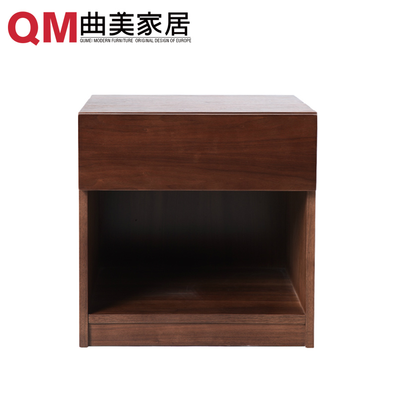 Qu mei furniture home scandinavian minimalist glove bedroom nightstand bedside cabinet modern furniture bedside cabinet bedside cabinet lockers chest of drawers