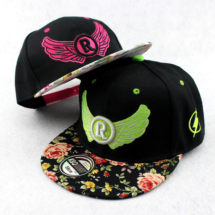 R wings baseball cap hat female korean tidal summer hat lovers cap flat brimmed hat hip hop cap male cap sun Hat