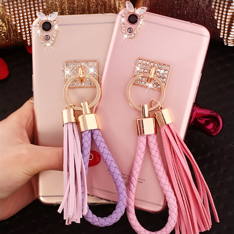 R9 phone shell oppo 0pp0 oppe r9m inch protective sleeve silicone transparent 5.5 r9tm tassel female korean