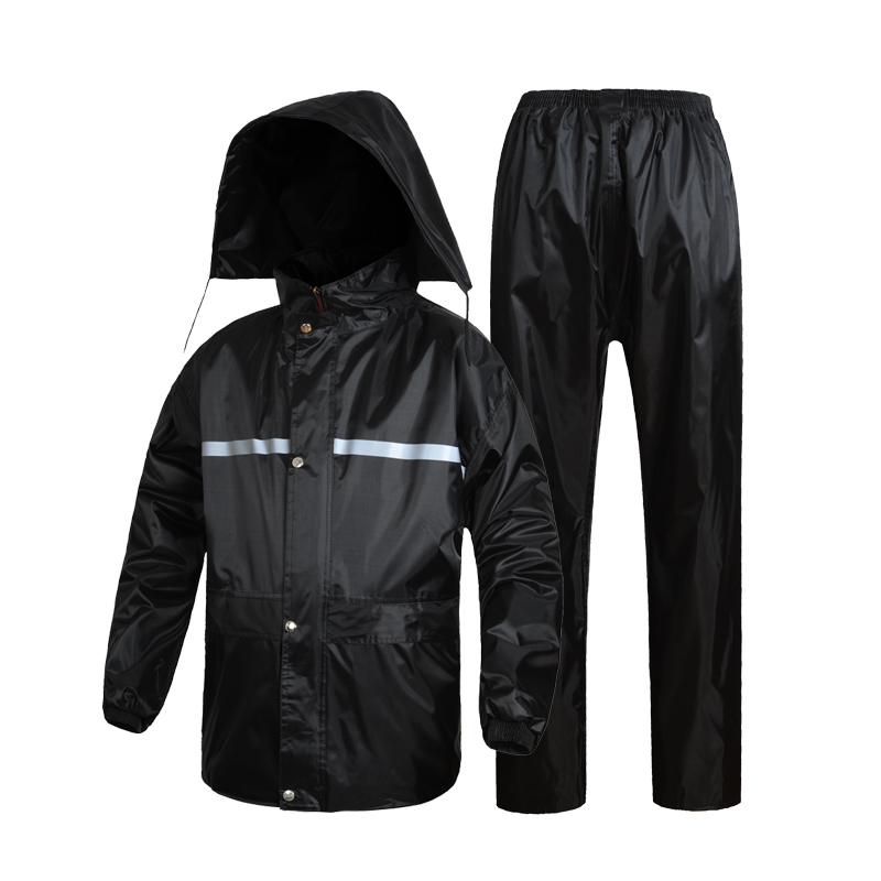 Raincoat single electric car bike motorcycle riding men and ladies thick split raincoat rain pants suit adult
