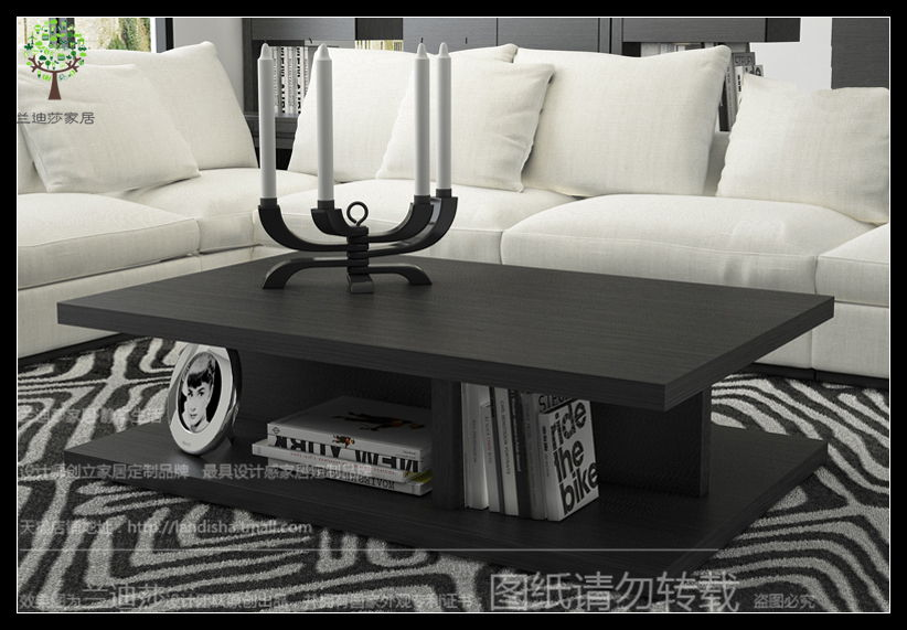 Randy lufthansa nordic style coffee table black oak coffee table minimalist modern home creative minimalist coffee table coffee table custom