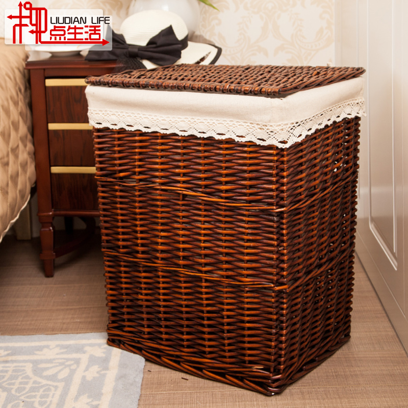 Charmant Get Quotations · Rattan Laundry Basket Of Clothes Storage Baskets Laundry  Baskets Large Storage Basket With Lid Laundry Baskets