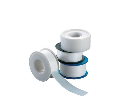 Raw material with \ \ raw tape sealed with tape wrapped around the leak with \ \ pneumatic seal with