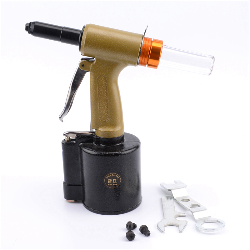 Reais fine nozzle head vertical hydraulic pneumatic rivet gun pneumatic rivet gun rivet machine light fine nozzle head