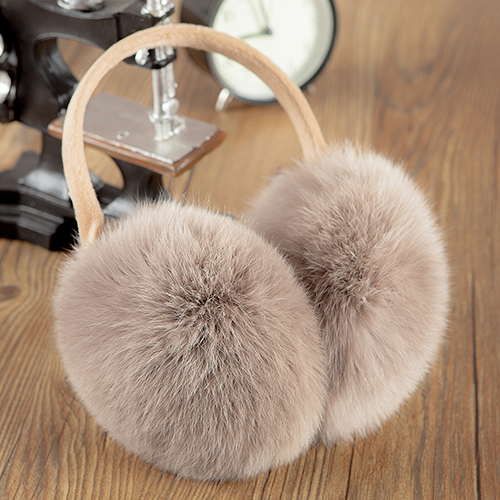 Real rabbit fur earmuffs ear package lovely men and women fall and winter cold and warm earmuffs ear cover their ears warm earmuffs ear cap ear care