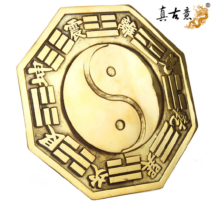 Really ancient italian opening gossip copper mirror convex mirror concave mirror plane jiugongtu home feng shui supplies hanging pieces