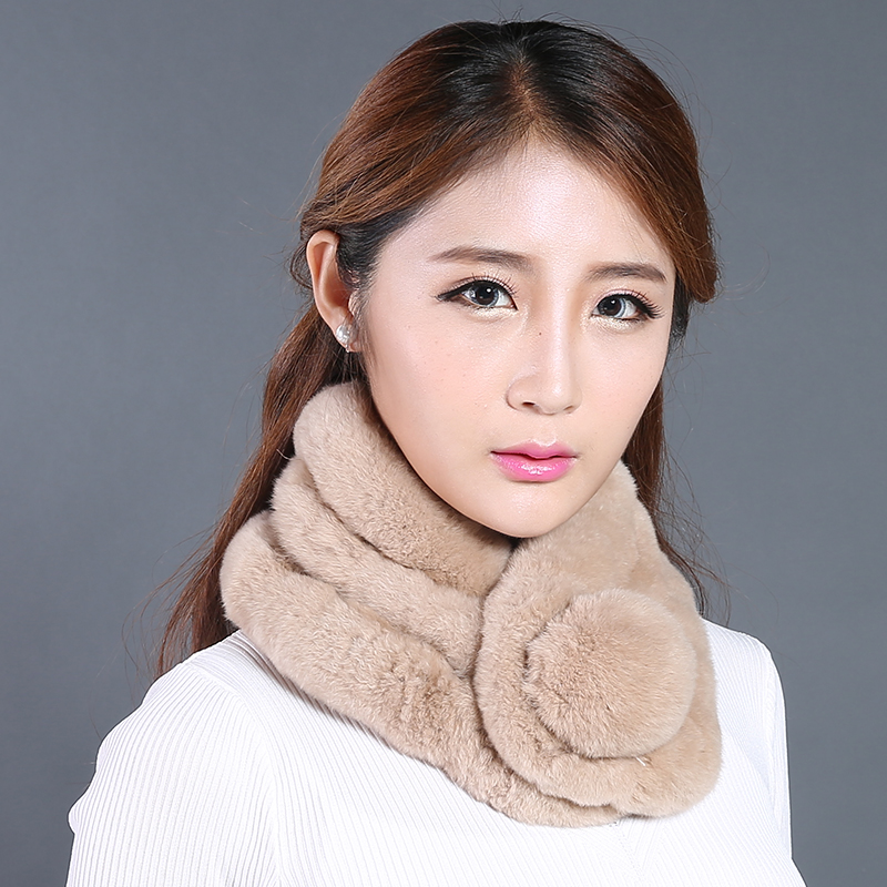 Really thick warm winter scarf female rabbit fur scarf rex rabbit fur scarves wool scarf scarf new