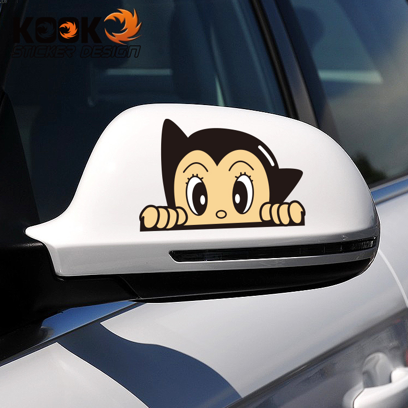 Rearview mirror car stickers personalized car stickers cartoon cute funny car pull flower decoration new bora sharan modified