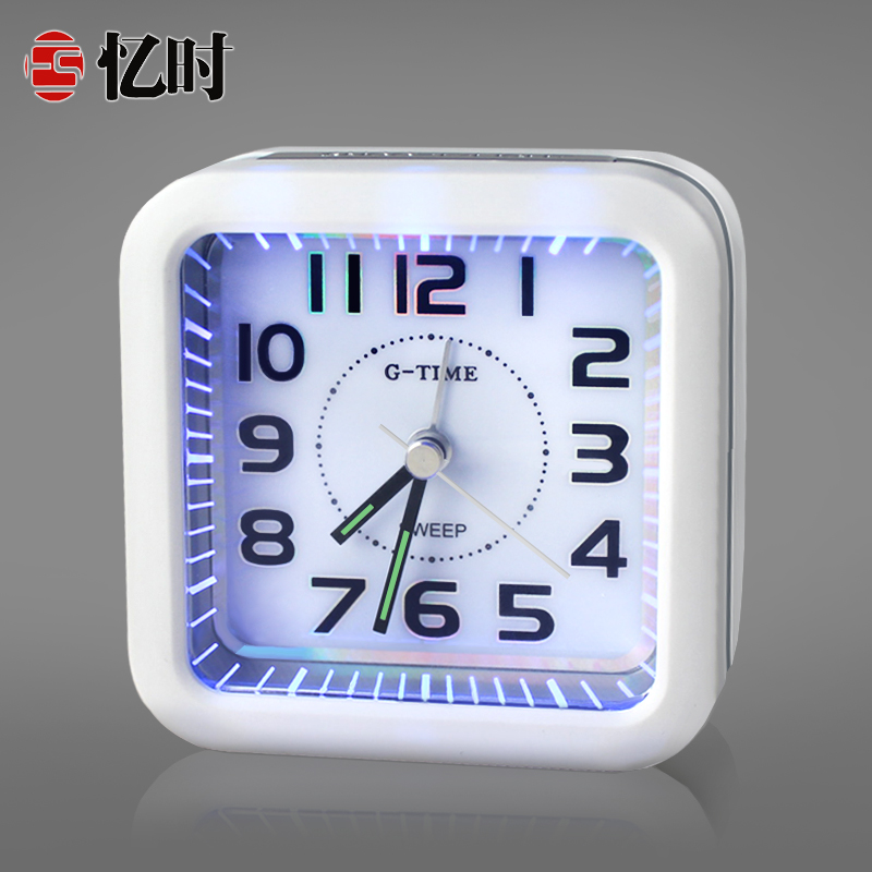 Recalling when creative fashion luminous 7 first student alarm clock lazy snooze mute bedside clock electronic pointer