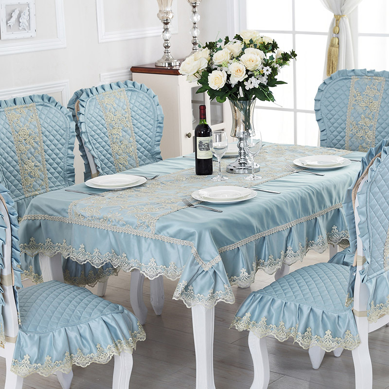Rectangular coffee table cloth fabric lace table cloth upholstery coverings suit european meal tables and chairs cushion chair cushion chair cushion cover