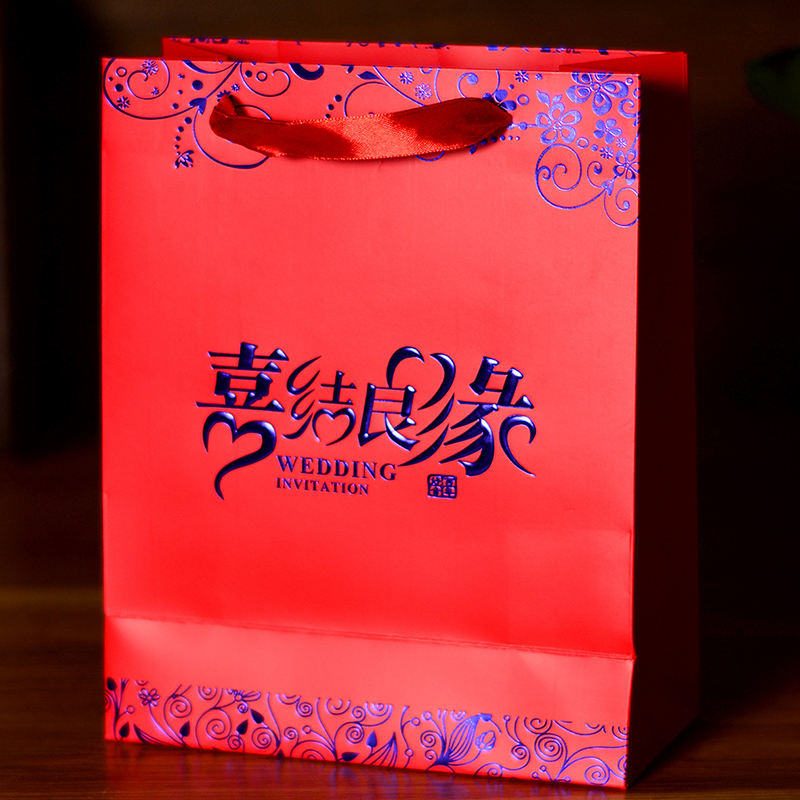 Red chinese style wedding candy box creative wedding chinese wedding supplies candy bags favor candy box