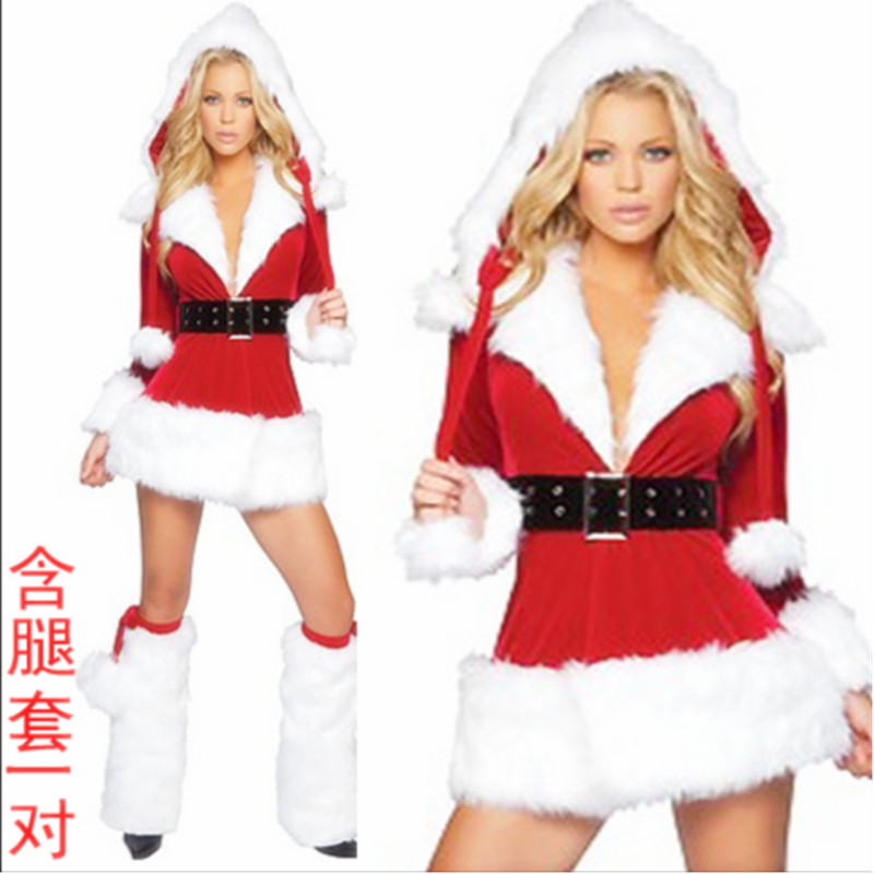 Get Quotations · Red long sleeve warm christmas dress christmas costume  christmas costume party to send the game uniforms - China Sexy Christmas Costume, China Sexy Christmas Costume Shopping