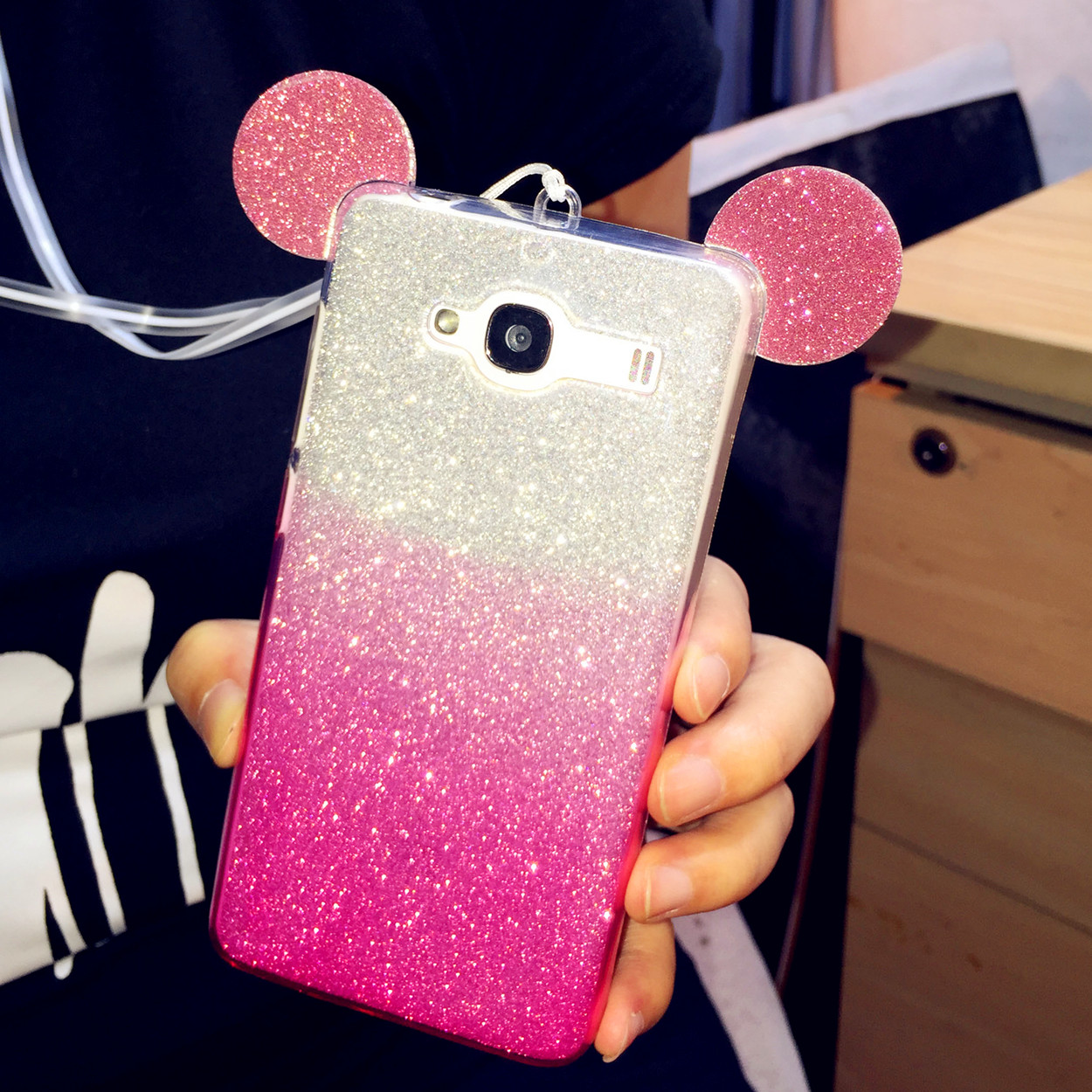 Red rice red rice 2a 2a phone shell mobile phone lanyard mobile phone sets millet red rice red rice 2 hm halter glitter glitter protective shell protective sleeve red rice 2a