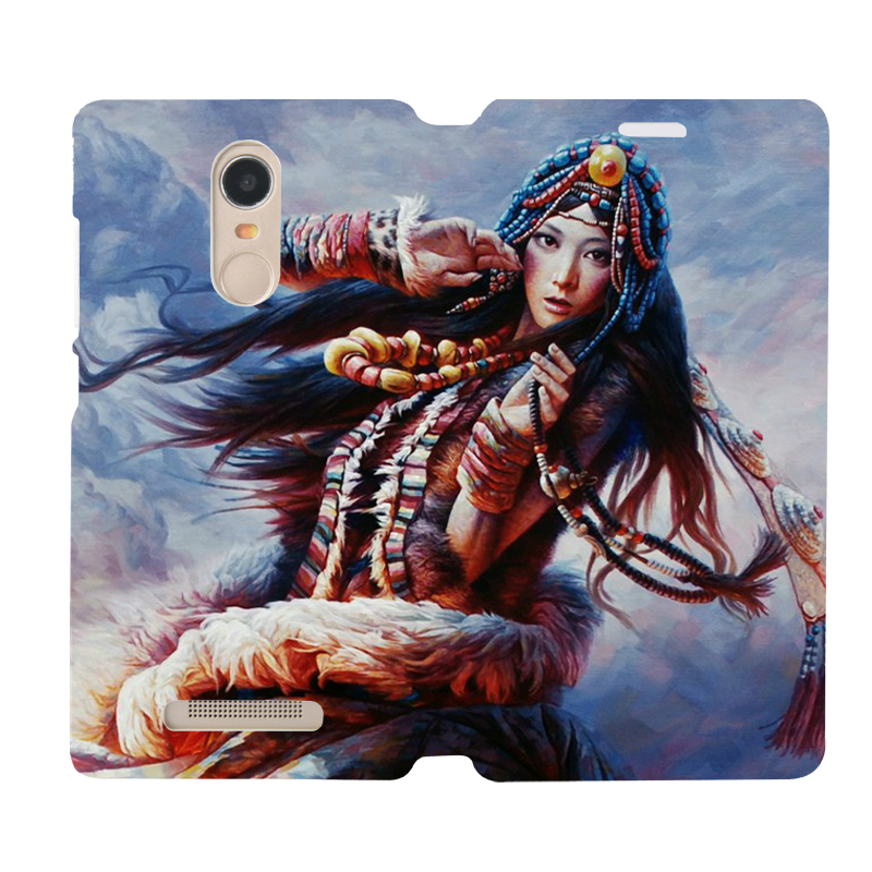 Red rice red rice note3 leather holster millet millet red rice red rice 3 tibetan girl leather shell mobile phone sets holster leather protective sleeve sleeve custom
