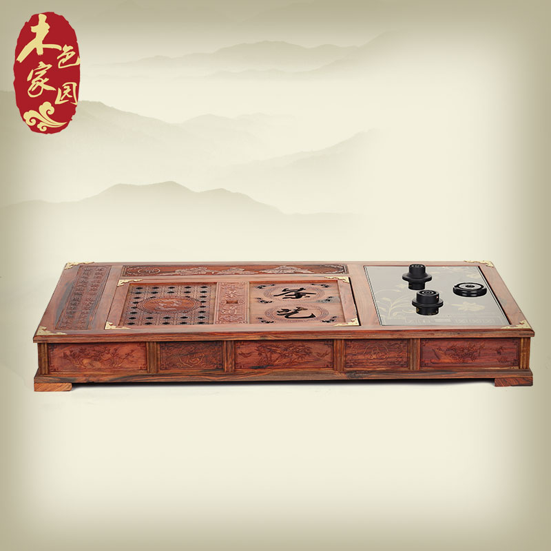 Red rosewood carved mahogany tea tray set with carved antique mahogany wood tea tray cooker arts and crafts