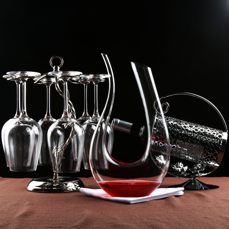 Red wine suits unleaded crystal glass of bordeaux wine glass goblet cup holder wine rack wine decanters