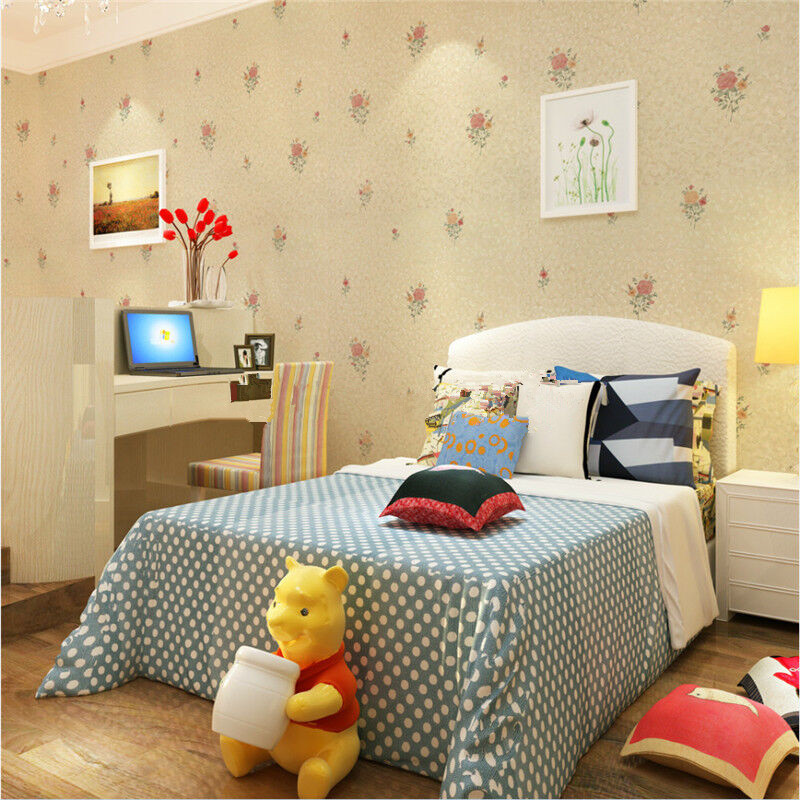 Regional shipping thick pvc adhesive wallpaper dormitory bedroom pastoral sticky adhesive wall stickers waterproof 6027-2