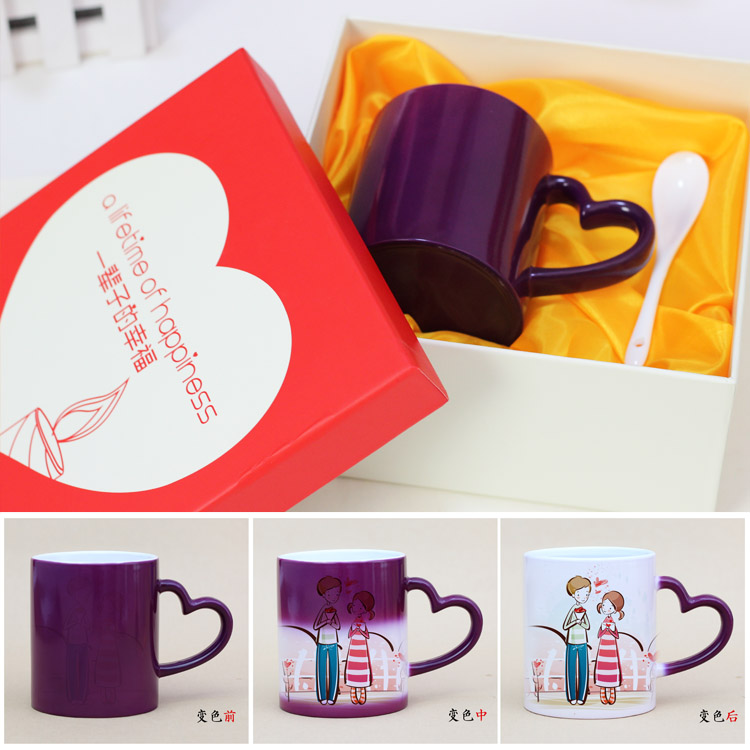 Relatives and friends mug printed photo mug plans to customize chromotropic tanabata valentine's day custom color cup free shipping