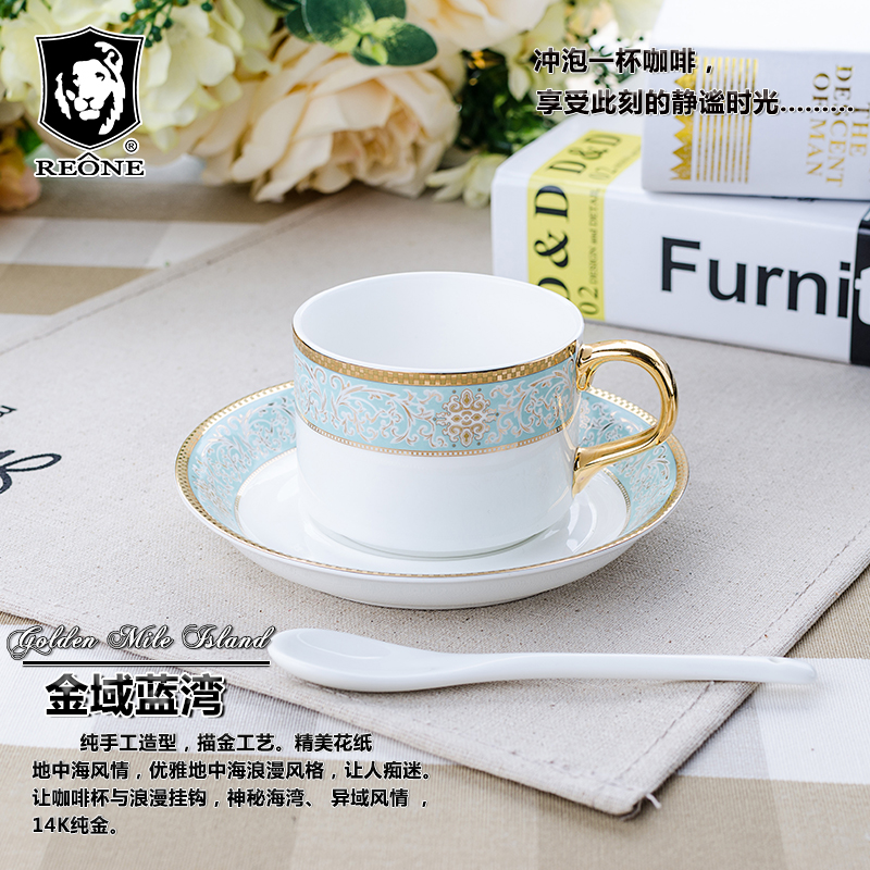 Reone afternoon tea bone china coffee cup and saucer spoon suit european coffee cup and saucer tea cup ceramic tea cup