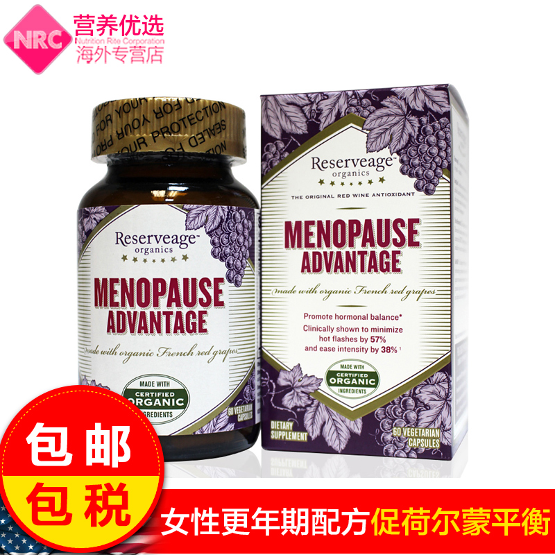 Reserveage resveratrol grape seed extract black cohosh menopause women tune management of us imports