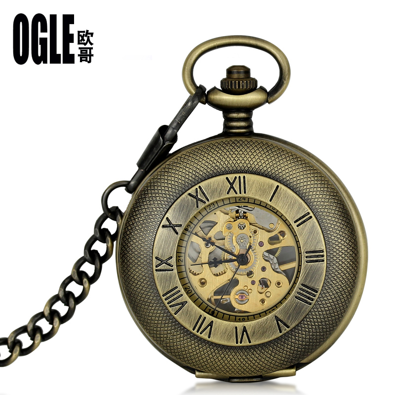Retro flip pocket watch pocket watch vintage pocket watch mechanical watches for men and women students exam pocket watch mechanical pocket watch free shipping