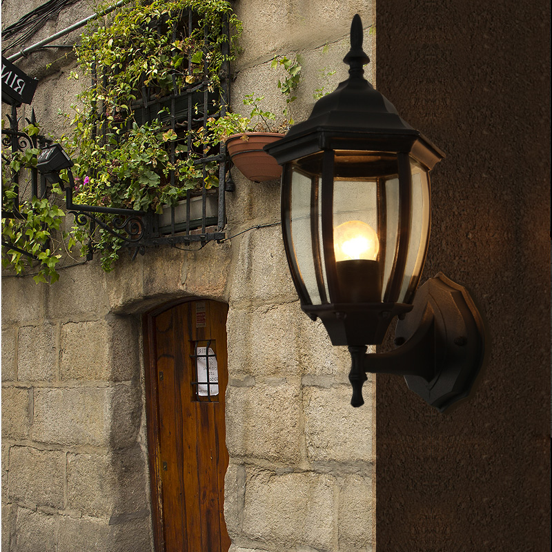 Retro outdoor wall lamp wall lamp european creative lighting waterproof outdoor garden lights garden lights garden villa staircase american positronic