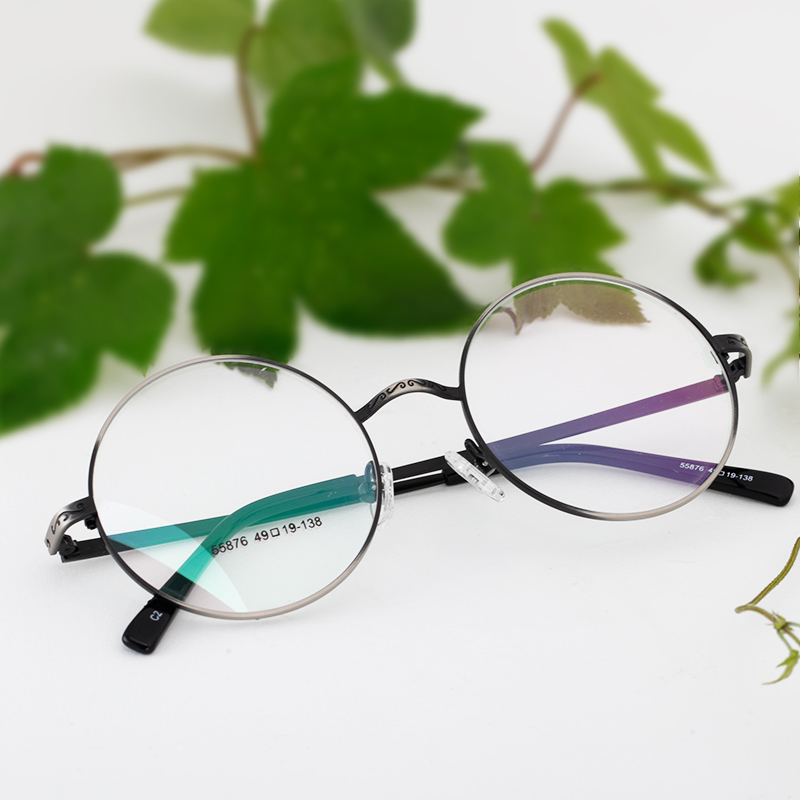 Retro oval glasses frame tide men and women myopia frame glasses frame glasses korea art fan plain decorative mirror