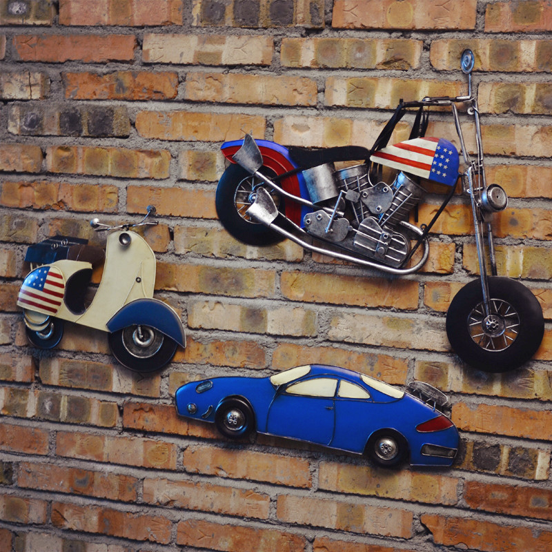 Retro stereo iron cars personalized wall hangings creative home decorations decorative wall hanging wine bar cafe shop