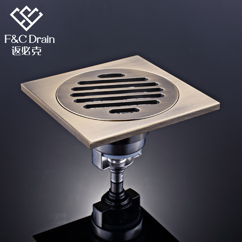 Return will grams a square full of copper floor drain stainless steel core slim shift insect odor floor drain copper