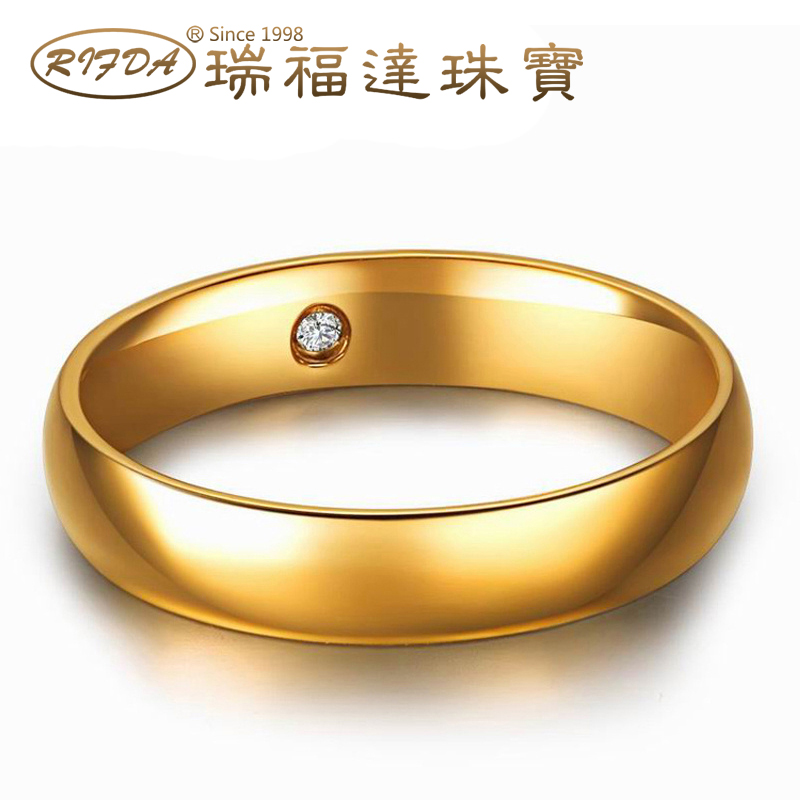 Rifda/rui faldan k gold ring k gold k rose gold couple ring k gold ring