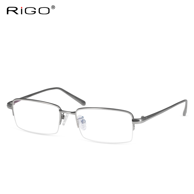 224bd622e55b Get Quotations · Rigo titanium rimless glasses frame myopia frames male  half frame glasses frame reading glasses with glasses