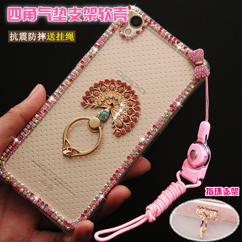 Ring a7 a7 samsung phone shell soft shell drop resistance protective sleeve diamond female 2016 lanyard a7000 A7100 silica gel