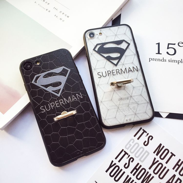 Ring buckle couple superman splu 7plus iphone7 popular brands of soft shell phone shell apple 6 s silicone whole package 6