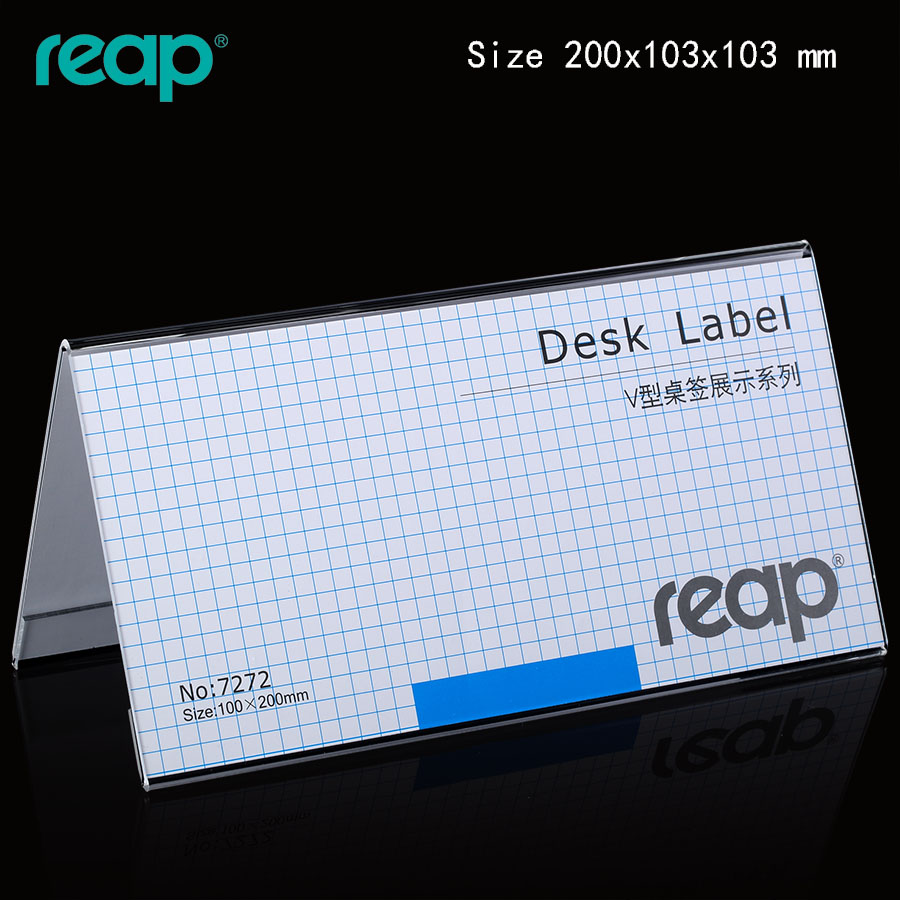 Rip 7272 acrylic taiwan card taiwan card table sign sided triangle meeting brand name brand advertising brand price tag
