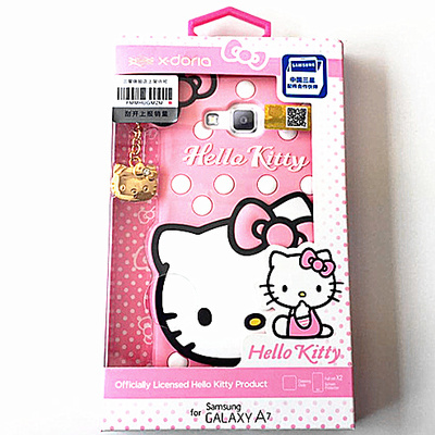 Road swiss x-doria hello kitty mobile phone shell silicone protective sleeve samsung a7000 a7 leather holster