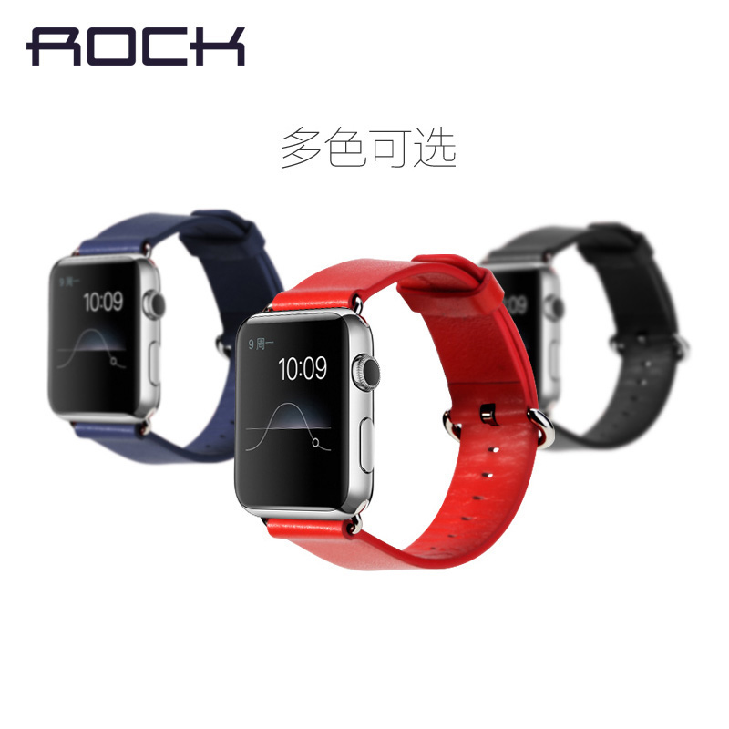 Rock apple apple iwatch watch leather strap watch with leather strap watches sports watch men and women