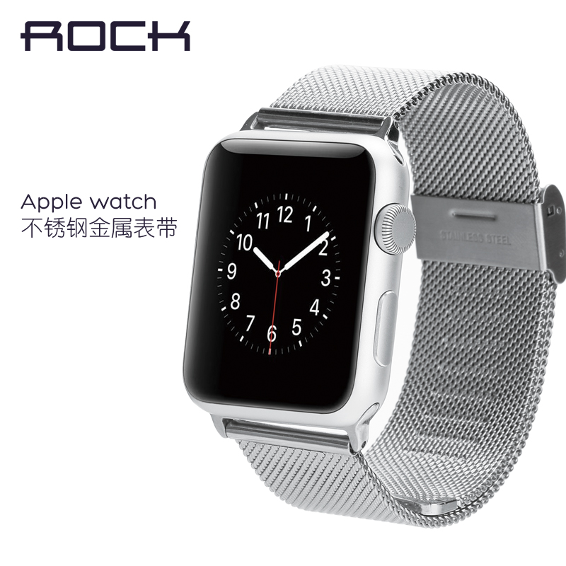Rock apple apple watch strap watch strap iwatch milanese stainless steel strap loop