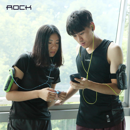 Rock samsung mobile phone arm package running arm bag men and women sports fitness equipment arm wrist bag apple s huawei