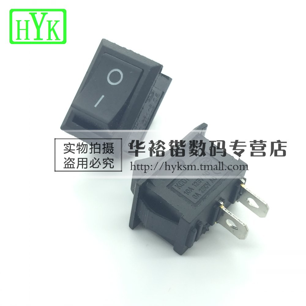 Rocker switch rocker power switch kcd1-101 black 2 single pole rocker switch feet 2 files 6a 250 v