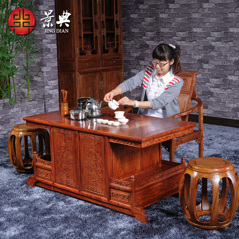 Roman hedgehog rosewood mahogany furniture rosewood tea table kung fu tea sets tea tables and chairs combination coffee table