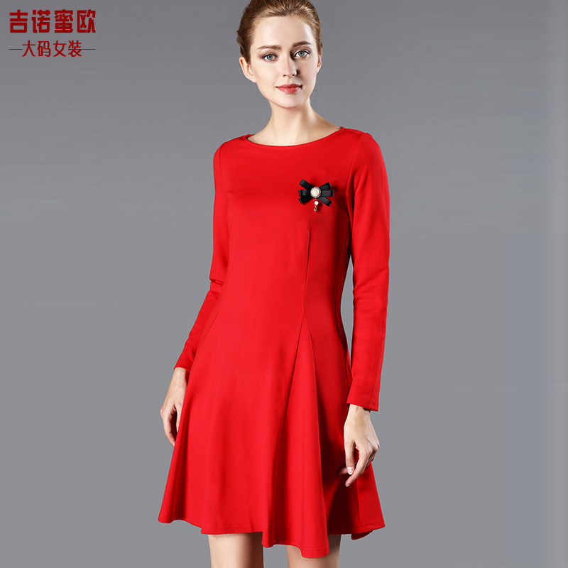 Romeo genaux large size women dress autumn new large size women fat mm autumn fat mm large size women fall and winter