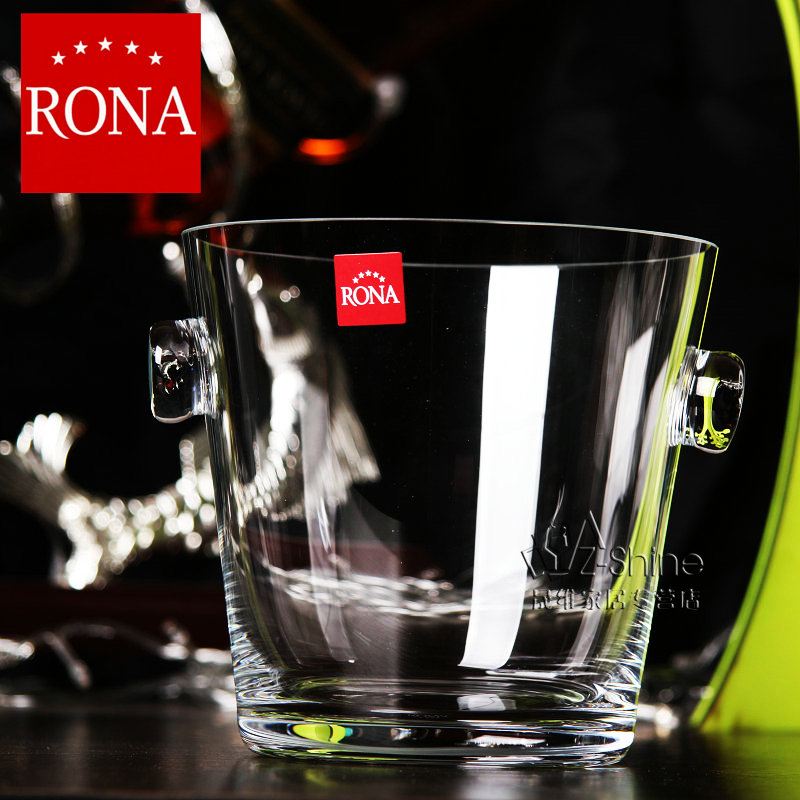 Rona shipping czech import crystal glass fashion ktv beer wine champagne bucket ice bucket bar champagne bucket