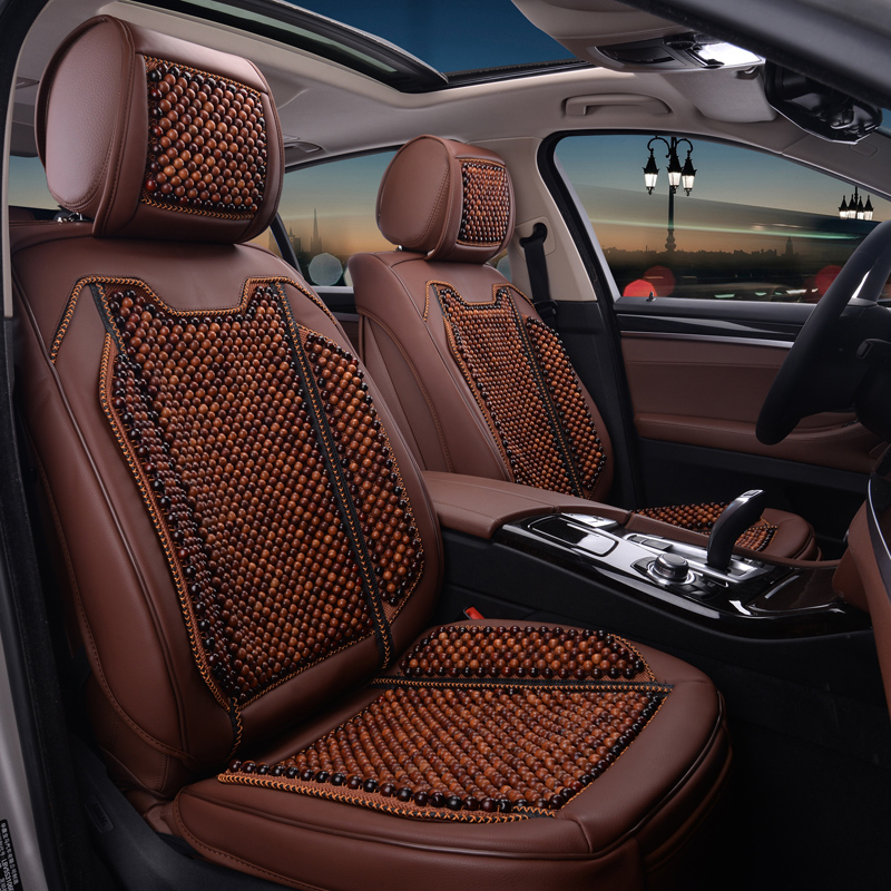 Rosewood mahogany wooden bead seat cushion car seat is suitable for cadillac cts