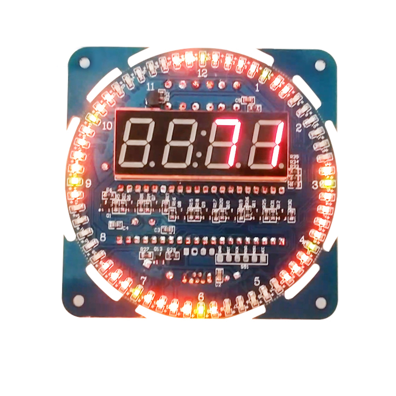 Rotating led display creative diy ds1302 clock electronic clock electronic table alarm clock temperature display alarm