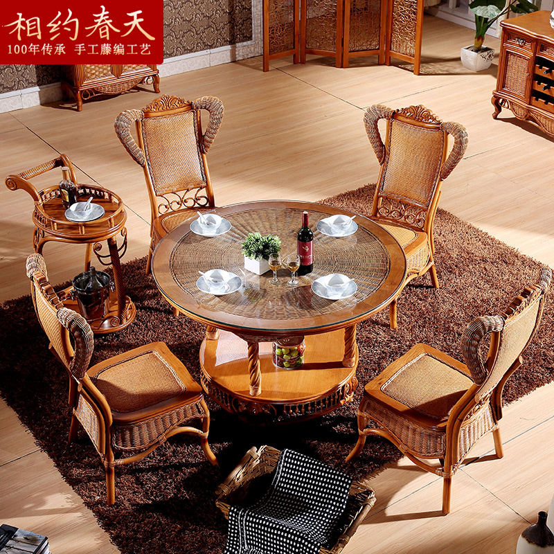 Get Quotations Round Dining Tables And Chairs Combination Of Rattan Wicker Chair Table Living Room