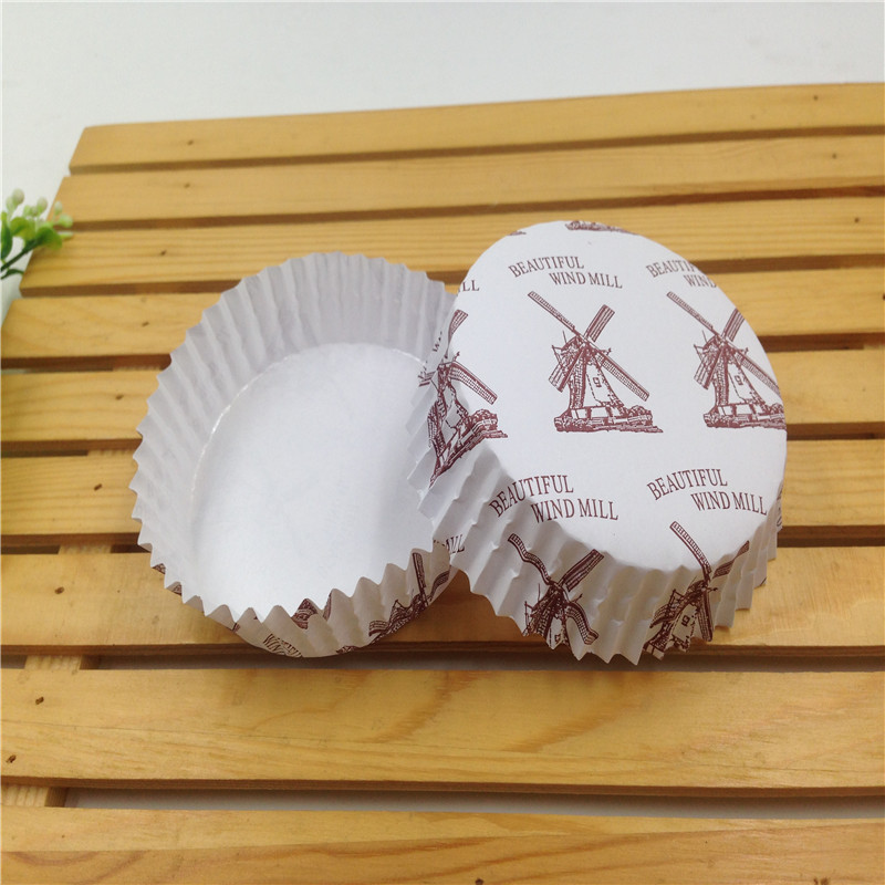 Round laminating greaseproof paper cupcake cups cake baking temperature cupcake cups 300