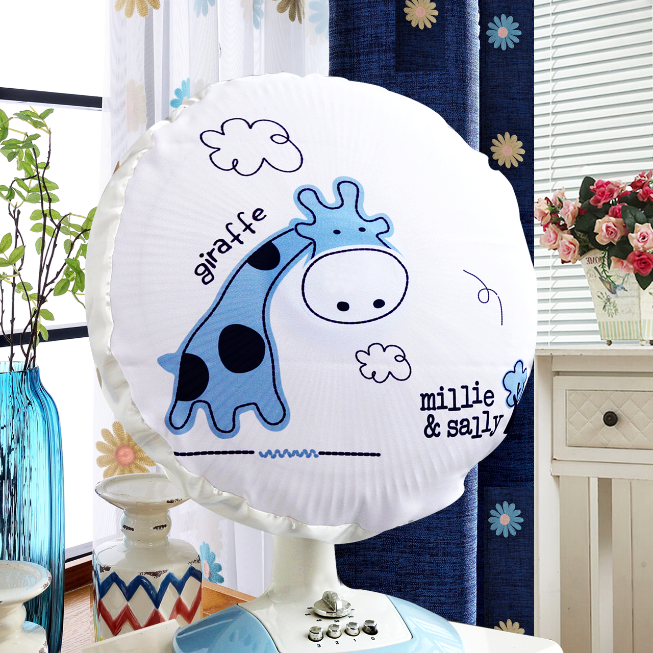 Round the whole package type cartoon printing electric fan cover fan cover fan cover dust cover floor jimmys hood